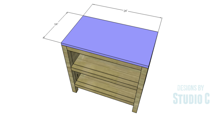 DIY Plans to Build Hannah's Nightstand-Top