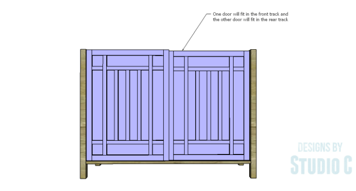 DIY Plans to Build a Simone Sideboard-Doors 2
