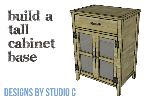 A Tall Cabinet with Hutch, Part One – Designs by Studio C