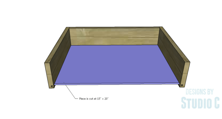 DIY Plans to Build a Tall Cabinet Base-Drawer 3