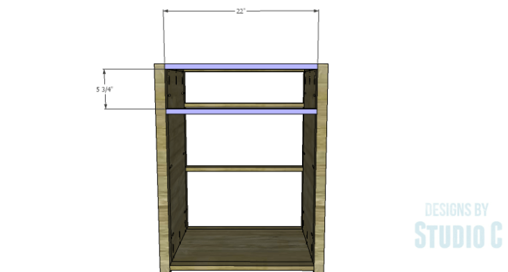 DIY Plans to Build a Tall Cabinet Base-Front Stretchers