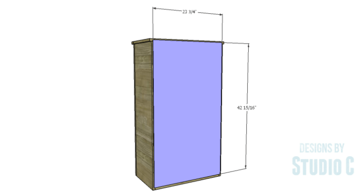 DIY Plans to Build a Tall Cabinet Hutch-Back