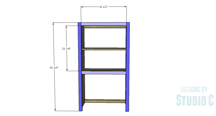 DIY Plans to Build a Tall Cabinet Hutch-Face Frame