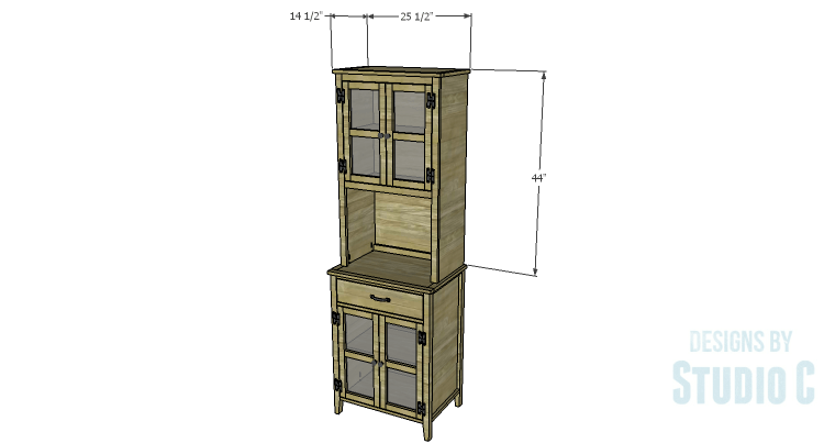 A Tall Cabinet with a Hutch, Part Two – Designs by Studio C