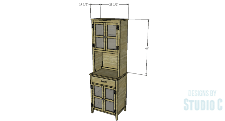 DIY Plans to Build a Tall Cabinet Hutch