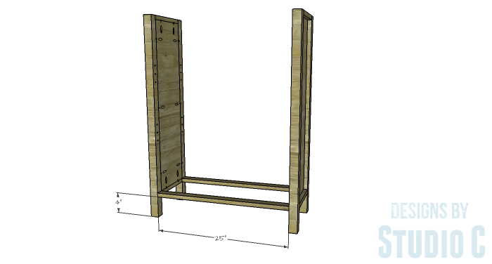 DIY Plans to Build an Ashwin Bookcase-Stretchers