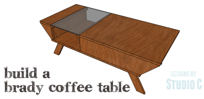 A Mid Century Modern Coffee Table With Plexiglas Insert - Small mid century modern coffee table