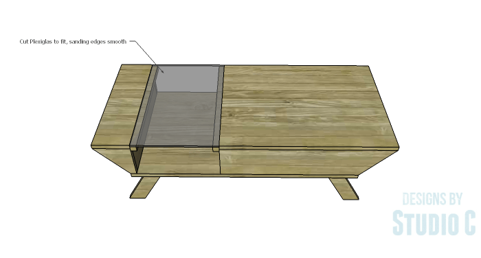 DIY Plans to Build a Brady Coffee Table-Plexiglas Top