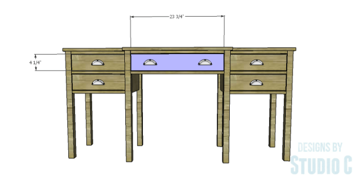 DIY Plans to Build a Brantley Desk-Center Drawer Front