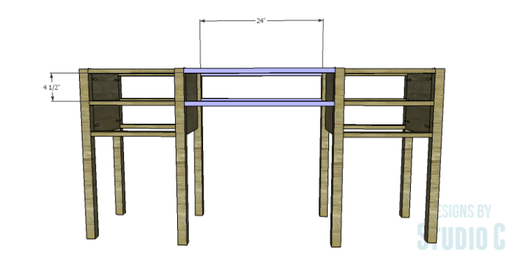 DIY Plans to Build a Brantley Desk-Center Stretchers