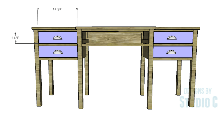 DIY Plans to Build a Brantley Desk-Outer Drawer Fronts