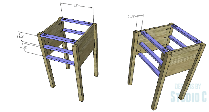 DIY Plans to Build a Brantley Desk-Outer Stretchers