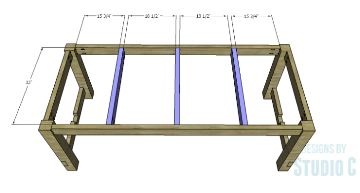 DIY Plans to Build an Easy Rustic Dining Table-Center Supports