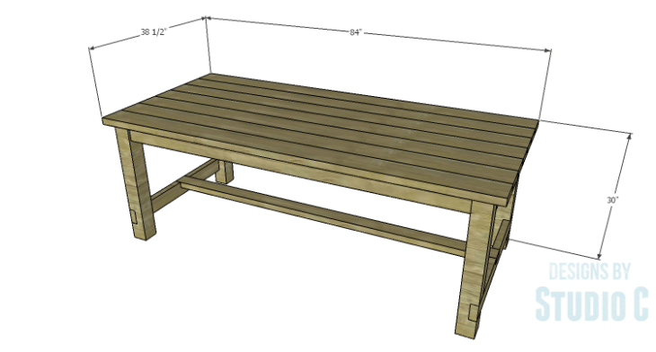 DIY Plans to Build an Easy Rustic Dining Table