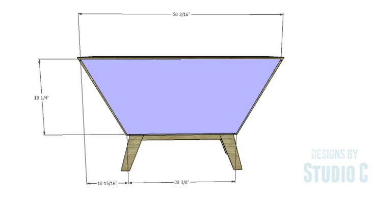DIY Plans to Build a Mid Century Modern Angled Cabinet-Back