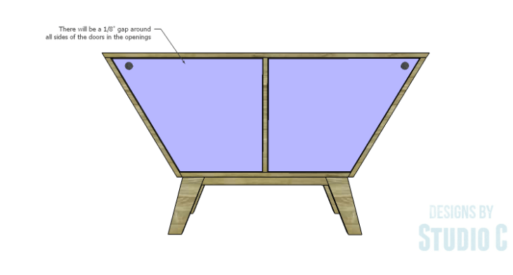 DIY Plans to Build a Mid Century Modern Angled Cabinet-Doors 2