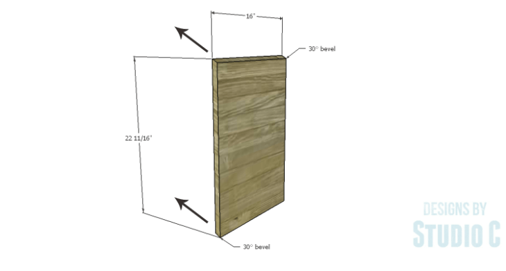 DIY Plans to Build a Mid Century Modern Angled Cabinet-Sides copy