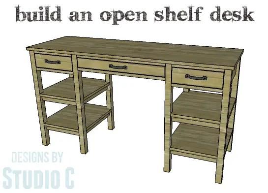 DIY Plans to Build an Open Shelf Desk-Copy