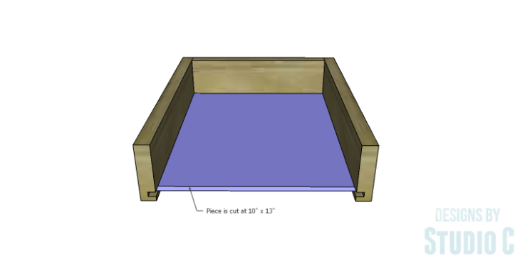 DIY Plans to Build an Open Shelf Desk-Outer Drawer 3