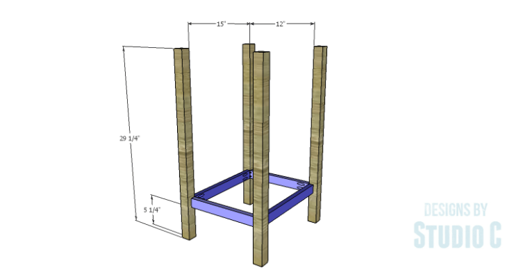 DIY Plans to Build an Open Shelf Desk-Outer Shelf Frame 1
