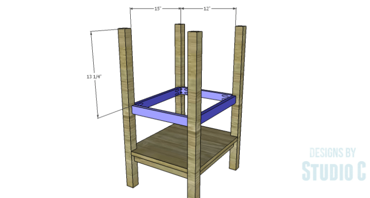 DIY Plans to Build an Open Shelf Desk-Outer Shelf Frame 2