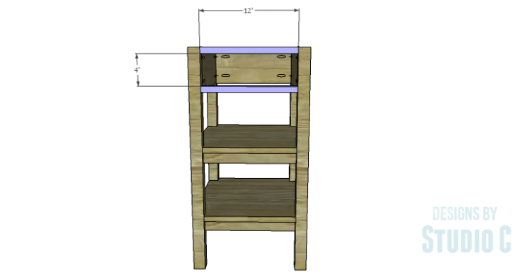 DIY Plans to Build an Open Shelf Desk-Outer Stretchers