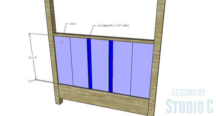 DIY Plans to Build a Waterton Queen Bed-Headboard Planks