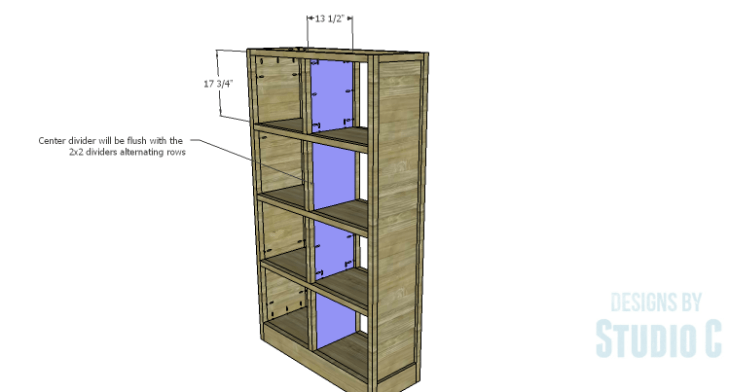 DIY Plans to Build a Woodruff Cabinet-Center Dividers