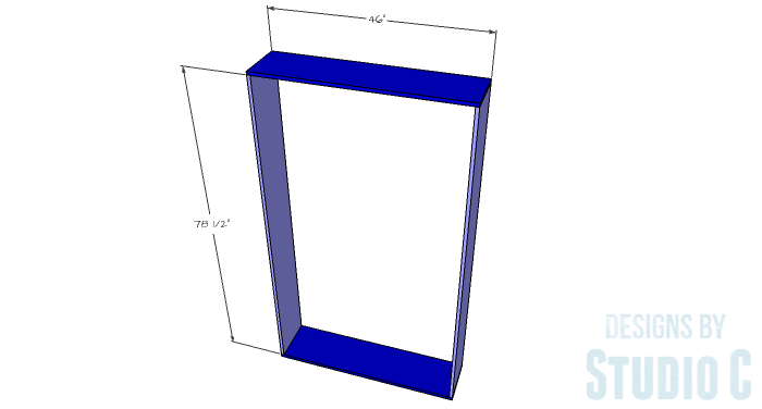 DIY Plans to Build a Geometric Bookshelf-Outer Box