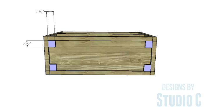 DIY Plans to Build a Grady Console Table-Caster Blocks