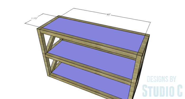 DIY Plans to Build a Grady Console Table-Shelves