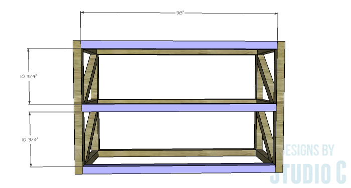 DIY Plans to Build a Grady Console Table-Stretchers 2