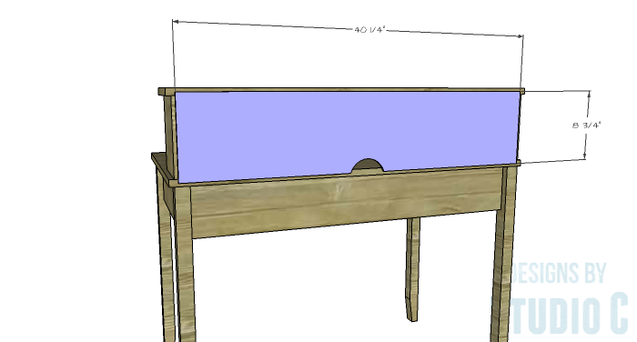 DIY Furniture Plans to Build a Mena Hutch Desk-Hutch Back