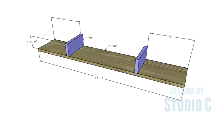 DIY Furniture Plans to Build a Mena Hutch Desk-Hutch Shelf 1
