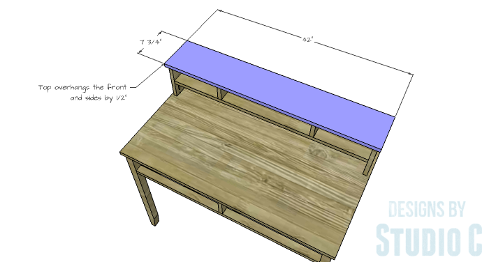 DIY Furniture Plans to Build a Mena Hutch Desk-Hutch Top