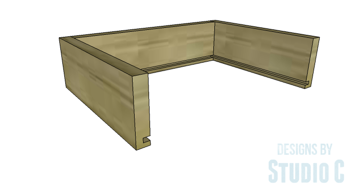 DIY Plans To Build A Storage Console Table Drawer 2