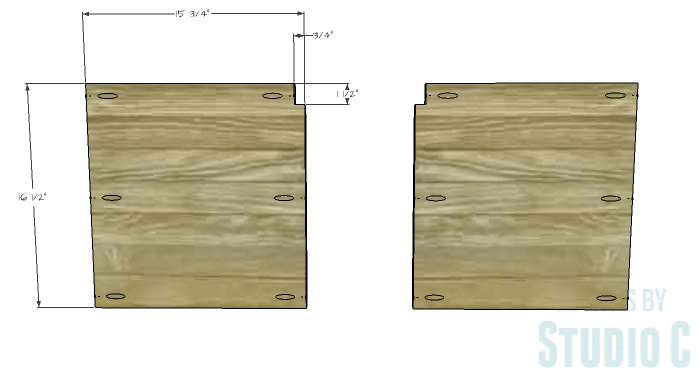 DIY Furniture Plans to Build a Tristan Media Stand-Upper Side Shelf 1