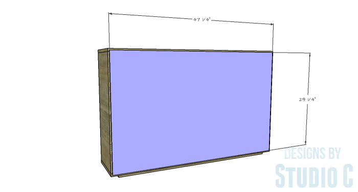 DIY Furniture Plans to Build a Zen Bookcase Media Stand-Back