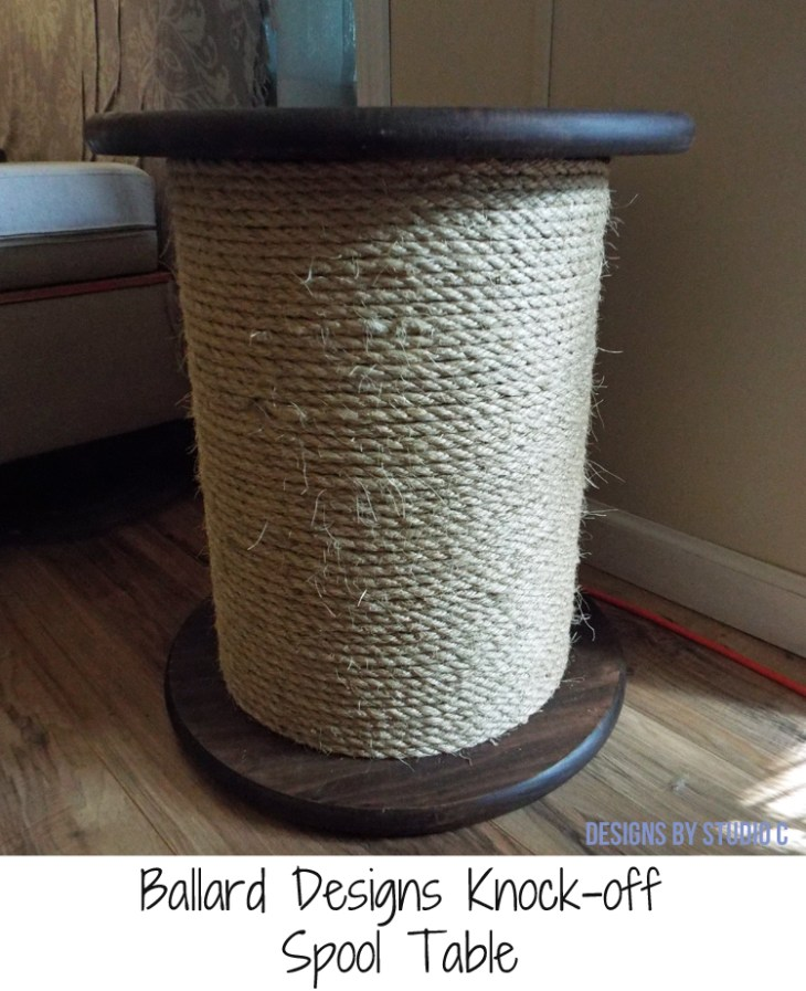 DIY Furniture Plans to Build a Knock-Off Spool Side Table