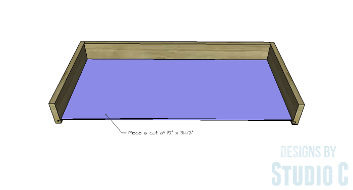 DIY Furniture Plans to Build an Easy Storage Bench-Drawer 3