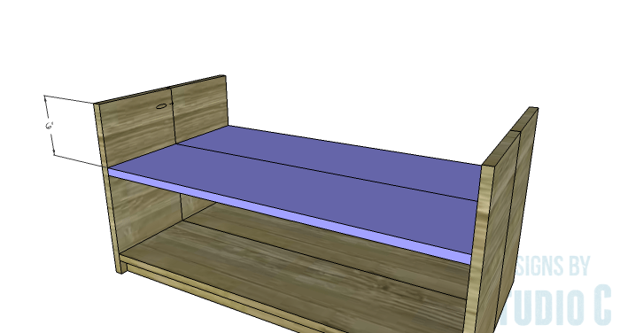 DIY Furniture Plans to Build an Easy Storage Bench-Drawer Shelf