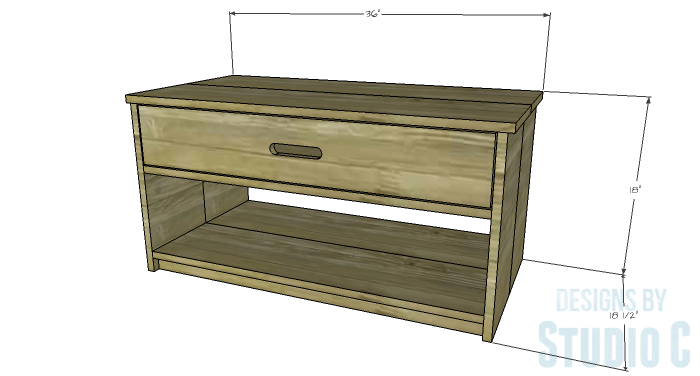 DIY Furniture Plans to Build an Easy Storage Bench