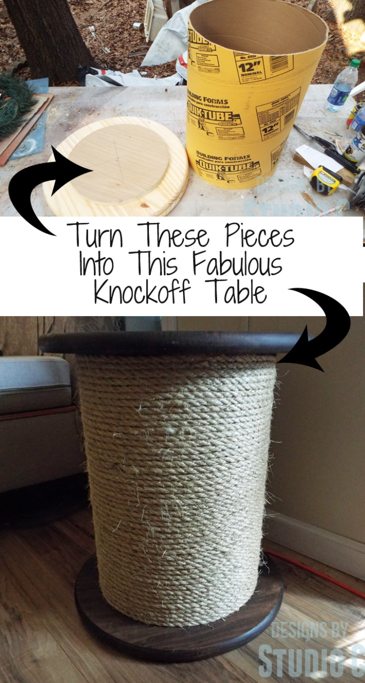 An easy to build knock-off side table inspired by a catalog retailer featuring a removable top with storage for light blankets or small pillows! This fabulous table looks great in any room or as a pair in bedroom!Super-easy and inexpensive to build...
