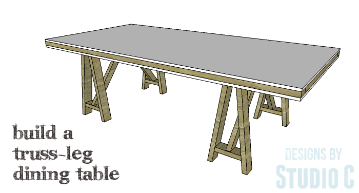 DIY Furniture Plans to Build a Truss-Leg Dining Table-Copy