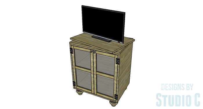 DIY Furniture Plans to Build a Swivel Top Media Cabinet-Copy 2