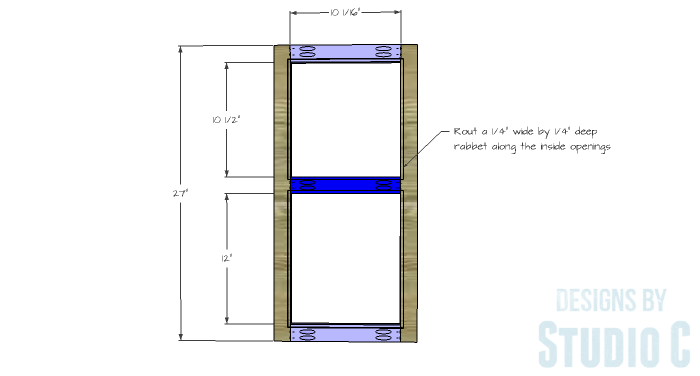 DIY Furniture Plans to Build a Swivel Top Media Cabinet-Doors 1