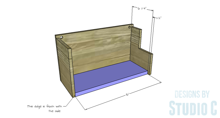 DIY Furniture Plans to Build a Wall Mounted Dinnerware Organizer Rack-Bottom