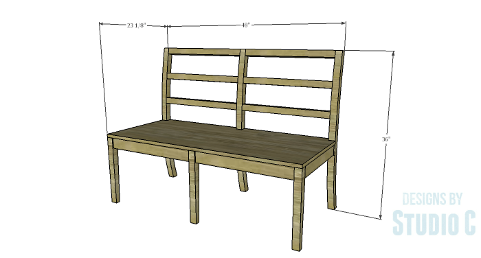 DIY Furniture Plans to Build an Anna Bench