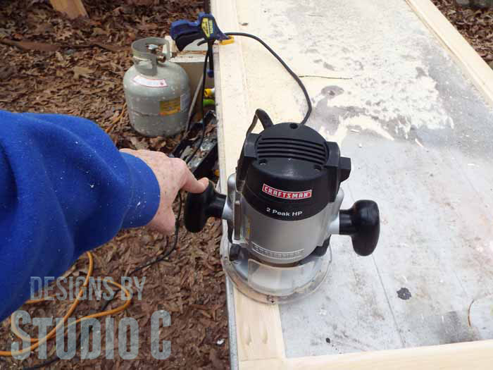 How to Use a Router to Cut a Rabbet in a Frame - Material Placed Left of Router