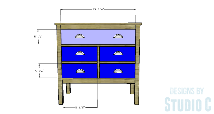 DIY Furniture Plans to Build an Evan Dresser - Drawer Fronts